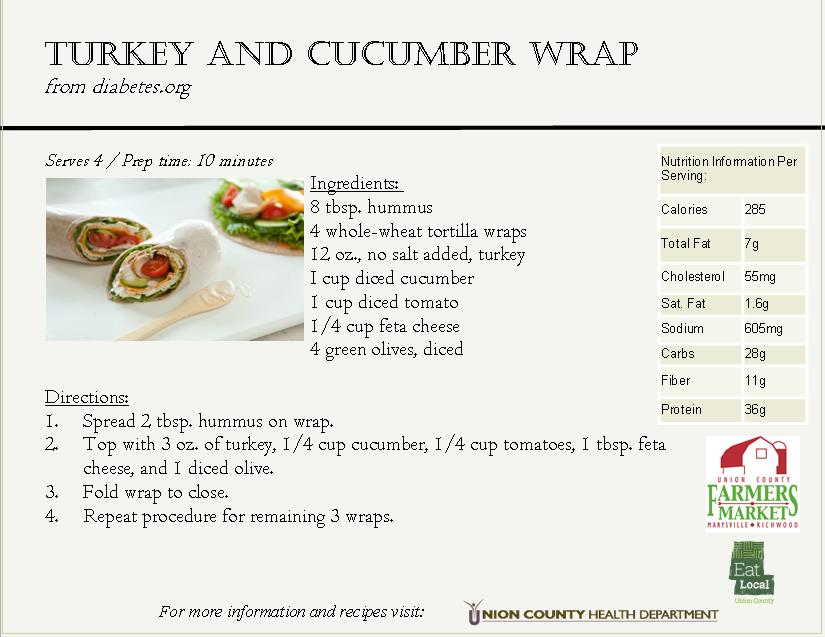 2016 Cucumber Recipe Card 1