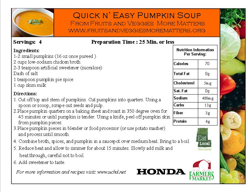 pumpkin soup rc