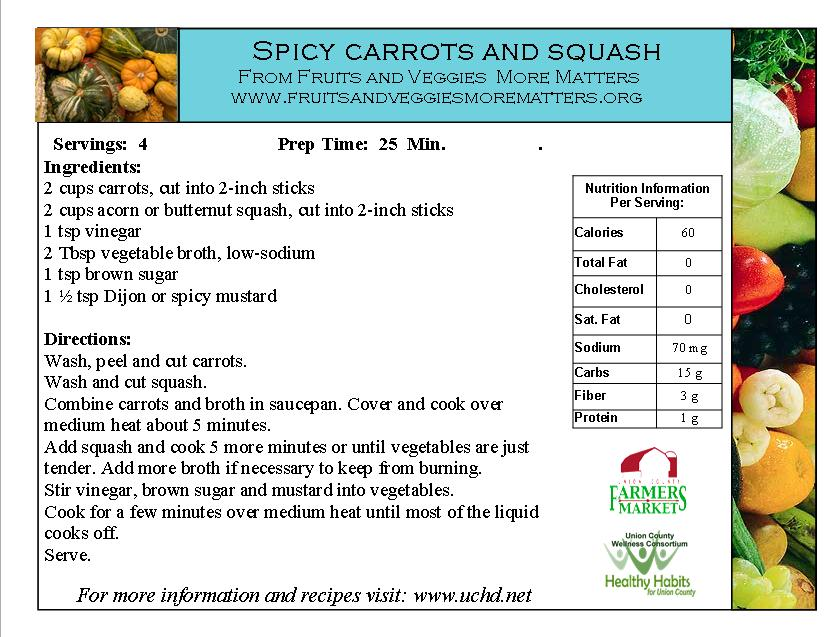 spicy carrots and squash